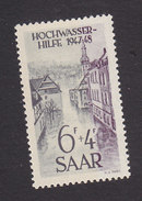 Saar, Scott #B62, Mint Hinged, Flood Scnee, Issued 1948 - 1947-56 Protectorate
