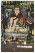 - Birmanie - Rangoon - Yangon - Buddha's Image, écrite, Belles Couleurs, BE, Rare, Pour Marseille, Scans. - Postcards