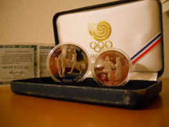 """SOUTH KOREA 5000 & 10000 WON SILVER PROOF 1987 OLYMPIC GAMES 1988 """"free Shipping Via Registered Air Mail"""" - Corée Du Sud"""