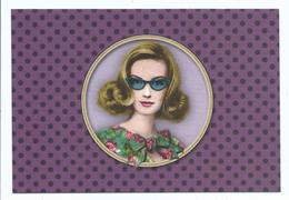 Accessoire De Mode Vintage - Femme Lunette Noeud  - Cpm 9 /14 Cm Ed Les Cakes De Bertrand - Moda