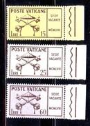Vaticano 1958 Sede Vacante MCMLVIII  3v Mnh** - Vaticano (Ciudad Del)