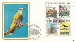 F.D.C.   - FILAGRANO   1985  -      Flora E Fauna (10210) - 6. 1946-.. Repubblica