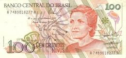 BRAZIL 100 CRUZADOS NOVOS ND (1990) P-220b UNC SIGN. NOBREGA & BUCCHI [BR842b] - Brazilië