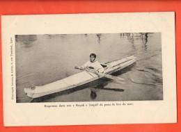 IAF-06  Esquimau Dans Son Kayak Esquif De Peau De Lion De Mer. Not Used. - Etats-Unis