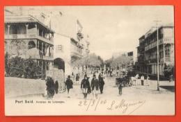 IAF-07  Port-Said  Avenue De Lesseps. Pionier. Used In 1906 - Port-Saïd