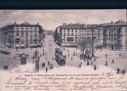 Genève, Rond-Point De Plainpalais, Tramway Et Attelages (Charnaux 4083) - GE Genève