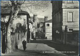 Bracciano (Roma) Via Principe Di Napoli. Animata VG 1953 - Altre Città