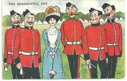 """CPA 1905 Illustrateur E.Hess """"the Regimantal Pet"""" , élégante,  Mascotte Des Militaires N°283, Millar Et Lang - Humour"""