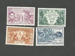 105/108  Exposition D E   Paris Charniére (pag4D) - India (1892-1954)