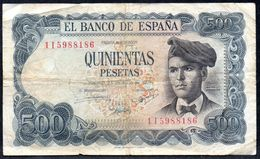 SPAIN 500 PESETAS 1971 (1973) P-153a VG-F - [ 3] 1936-1975: Regime Van Franco