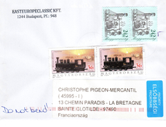 HONGRIE - Enveloppe Ayant Circulée 24.01.2017 Avec L'île De La REUNION - Hongrie