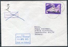 1973 Holland Netherlands Ship Cover. M.S. KONINGIN WILHELMINA - Covers & Documents