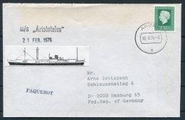 1976 Netherlands Ship Cover M.S. ARISTOTELES Aruba Paquebot - Briefe U. Dokumente