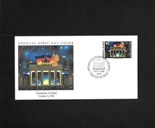 MARSHALL ISLANDS 03/10/1990 FDC GERMANY UNITED-UNITE DE L'ALLEMAGNE - Marshall