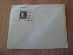 Enveloppe Repiquée Exposition De Propagande Philarélique Lyon Le 01/10/1938 Avec Repro Du N° 3 Cachet Lyon 01/01/49  TB - Briefe U. Dokumente