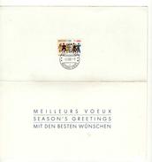 Document Philatélique Meilleurs Voeux Oblitération NATIONS UNIES 1211 GENEVE 01/12/1987 - Maximumkarten (MC)