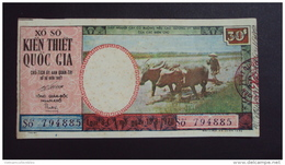 Lotterie / Lottery Of South Vietnam Viet Nam : Farmer / Open On 18 Aug 1970 /2 Images - Lottery Tickets