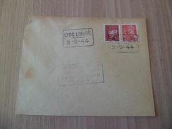Lettre Lyon Libération 1er Jour Le 02 Septembre 1944 Avec Cachets Lyon Libéré Sur N° 412 Et 515  TB ! !  !