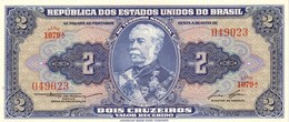 BRAZIL 2 CRUZEIROS ND (1958) P-151b UNC SIGN. LEMOS & LOPES [BR151b] - Brazilië
