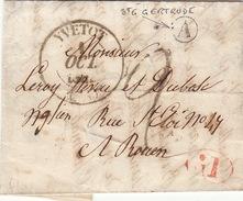 LETTRE.    1 OCT 42 .    SEINE INFERIEURE  YVETOT.     BOITE  RURALE  =   A   Ste GERTRUDE    / 80 - 1849-1876: Période Classique