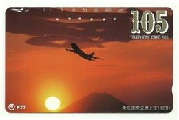Giappone - Tessera Telefonica Da 105 Units T225 - NTT, - Avions