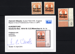 Deutsche Post In Polen,9a,b,c,xx - Besetzungen 1914-18