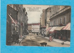 Aubenas, 1906 ( Ardèche ). - Le Faubourg Gambetta. - Café De La Rotonde. - Les Magasins. - Aubenas