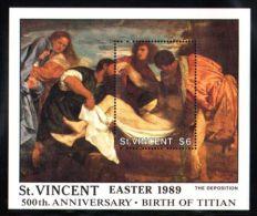 St.Vincent - 1989 Titian Block (2) MNH__(TH-8267) - St.Vincent (1979-...)