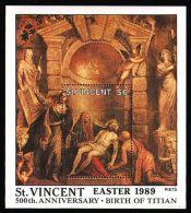 St.Vincent - 1989 Titian Block (1) MNH__(THB-982) - St.Vincent (1979-...)