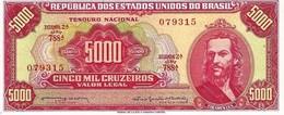** BRÉSIL 5000 CRUZEIROS ND (1965) P182A NEUF RARE QUALITÉ [BR801a] - Brazilië