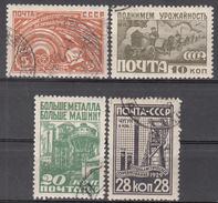 RUSSIA       SCOTT NO.  427-30      USED       YEAR     1929