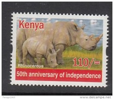 2013 Kenya Rhino  (from Sheet Of 25 Independence Stamps) - Much Cheaper Than Buying Sheet!!!
