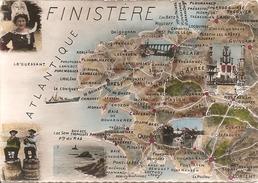 29 Finistère  :  Carte Du Département      Réf 2678 - Trégunc