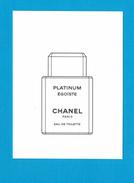 Cartes Parfumées Carte ÉGOÏSTE PLATINUM POUR HOMME De CHANEL - Cartes Parfumées