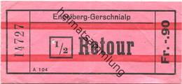Schweiz - Engelberg - Gerschnialp - 1/2 Retour Fahrschein - Bahn