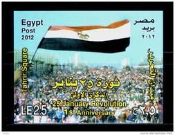 EGYPT / 2012 / 25 JANUARY REVOLUTION / TAHRIR SQUARE / MNH / VF - Nuovi