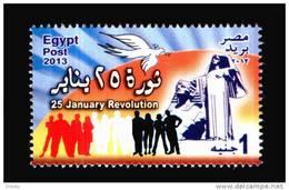 EGYPT /2013 / 25 JANUARY REVOLUTION / EGYPT´S RENAISSANCE STATUE BY : MAHMOUD MOKHTAR / DOVE / MNH / VF - Ongebruikt