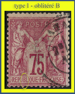 N° 71 GROUPE ALLÉGORIQUE SAGE 1876 - TYPE I - OBLITÉRÉ B - (PEUT-ÊTRE UN INFIME AMINCISSEMENT, QUASIMENT INVISIBLE) - 1876-1878 Sage (Type I)