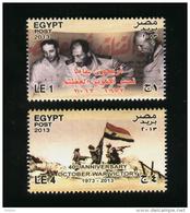 EGYPT / 2013 / ISRAEL / PRES. SADAT / AHMED ISMAIL ALI / SAAD EL SHAZLY / OCTOBER WAR VICTORY / FLAG / MNH / VF - Unused Stamps