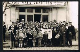 CAFE CAZOTTES- Carte Photo- Groupe Fanfare - Enfants - à Localiser- Paypal Sans Frais - Foto