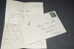 Très Bel Envoi De 1949,timbre Taxe Sur Courrier + Manuscrit,Noël Gillet,très Belle Oblitération - Covers