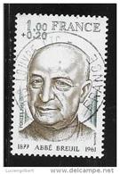 N°  1954  FRANCE  -  OBLITERE  -  ABBE BREUIL  -  1977 - France