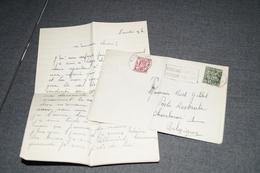 Très Bel Envoi De 1949,très Belle Oblitération Publicitaire + Manuscrit,Nël Gillet,pour Collection - Advertising