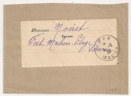 Cachet * P.P. * MACON, Saone Et Loire Sur BANDE. 1929. Cachet En Négatif Au Verso. - Poststempel (Briefe)