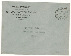IMPRIMES - PARIS * P.P. 4 * Sur Enveloppe à Entete. 1927 - Cachets Manuels