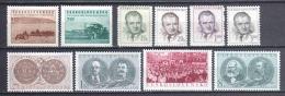 Czechoslowakia 1953 Mi 799-802 + 806-811 MNH - Nuevos