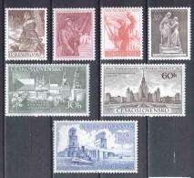 Czechoslowakia 1953 Mi 826-832 MNH - Nuevos