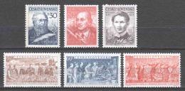 Czechoslowakia 1954 Mi 878-883 MNH - Nuevos