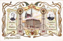 Wien-Gott Segne Das Ehrbare Handwerk Litho 1902-Jugendstiel. - Non Classés