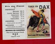 Toros En Dax 07 1969 - Programmes
